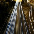 Traffic in Hong Kong at night — Stock Photo #9399779