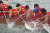 Dragon boat race in Tung Ng Festival, Hong Kong — Stock Photo