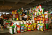 A rice hawker in a local market at China — Stock Photo