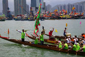 Dragon Boat Race, Hong Kong. — Stock Photo