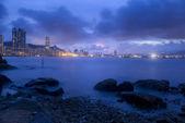 Sunset along the ocean in Hong Kong — 图库照片