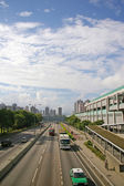 Traffic in Hong Kong at day — Stock Photo