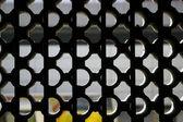 Círculos na janela em público habitacional de hong kong — Foto Stock