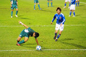 East Asian Games of football match - Macau vs Japan in Hong Kong — Стоковое фото