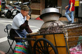 Taiwan hawker along the street — Stock Photo