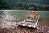Barco de bambú — Foto de Stock