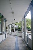 Modern walkway in school — Stock Photo
