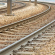 Close-up of the railway tracks complex junction — Stock Photo #9417417