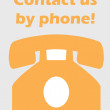 Phone contact vector abstract art illustration concept — Stock Photo