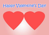 Happy Valentine's Day card — Стоковое фото
