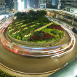 Traffic in roundabout in Hong Kong at night — Stock Photo