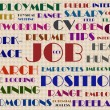 Job hunting wordcloud illustration — Stock Photo