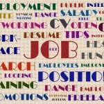 Job hunting wordcloud illustration — Stock Photo