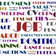 Stock Photo: Job hunting wordcloud illustration
