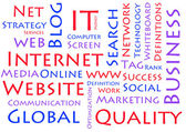 Internet wordcloud koncept — Stockfoto