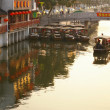 Sunset at Qibao water town in Shanghai China — Stock Photo