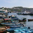 Cheung Chau sea view in Hong Kong, with fishing boats as backgro — Stock Photo