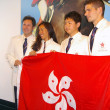 Equestrian olympic games participants in Hong Kong, press confer — Stock Photo #9798260