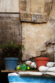 A old garden and wall — Stock Photo