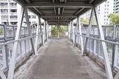 Footbridge in the city — Stock Photo