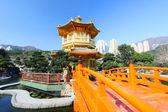 Paviljongen av absolut perfektion i nan lian trädgård, hong — Stockfoto