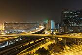 香港の都市のシーン、ダウンタウンのエリア内のトラフィック. — ストック写真