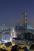 Modern city at night — Stock fotografie