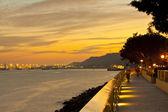 Sunset at the coast of Hong Kong — Foto de Stock