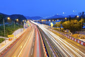 Majestic highway traffic in Hong Kong at night — Stock Photo