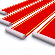 Red carpets — Stock Photo