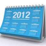 2012 calendar — Stock Photo