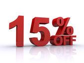 15 percent discount — Stock Photo