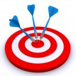 Target and arrows — Stock Photo