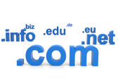 3D domain names. Internet concept. — Stock Photo