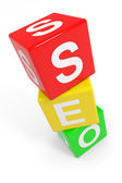 Colorful SEO cubes. — Stock Photo