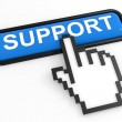 Blue button SUPPORT with hand cursor. — Stock Photo #8162522