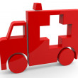Red 3d sign of ambulance. — Stock Photo