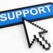 Blue button SUPPORT with arrow cursor. — Stock Photo #8224247