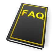 Black book with golden word FAQ. — Stock Photo