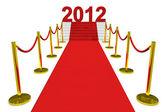 Capodanno 2012 su un tappeto rosso. — Foto Stock