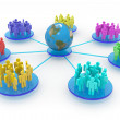 Business or social network. Concept. - Stock Photo