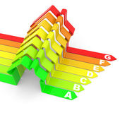 Energy efficiency concept on white. — Stock Photo