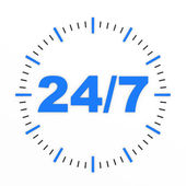 Clock. 24 7 avaliable. — Stock Photo