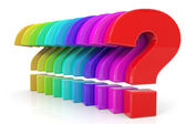 Colorful questions. — Stock Photo