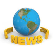 NEWS around globe earth. — Stock Photo