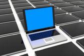 Um laptop aberto. — Foto Stock