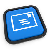 Blue mail button. — 图库照片