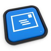 Botão de correio azul. — Foto Stock