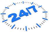 Clock. 24 7 avaliable. — Stock Photo