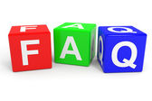 FAQ colorful cubes. — 图库照片